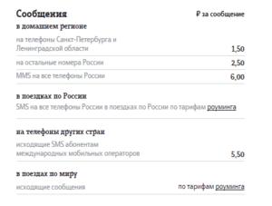 Тарифы Теле2 Санкт-Петербург и Ленинградская область